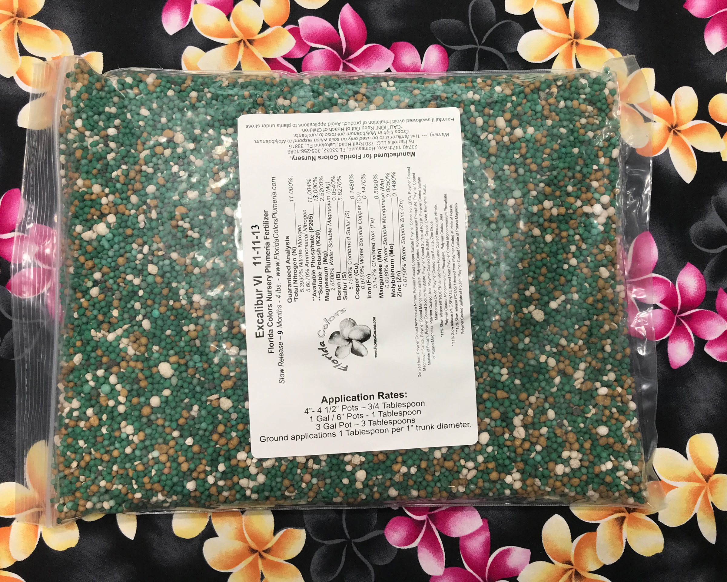 Excalibur Plumeria Fertilizer IX (11-11-13) 4 lbs (Includes Shipping)